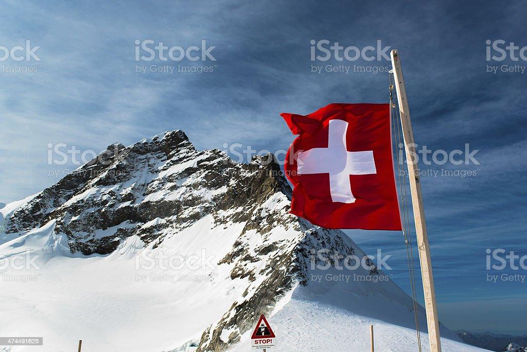 Alpine Alps mountain landscape at Jungfraujoch, Top of Europe Switzerland royalty-free stock photo