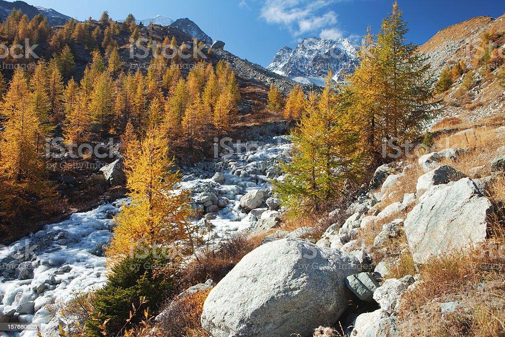 Alpine Autumn Idyll stock photo