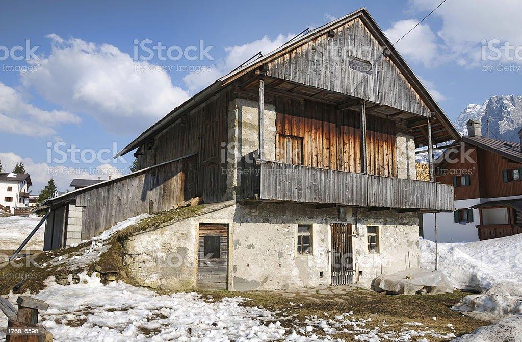Alpine barn stock photo