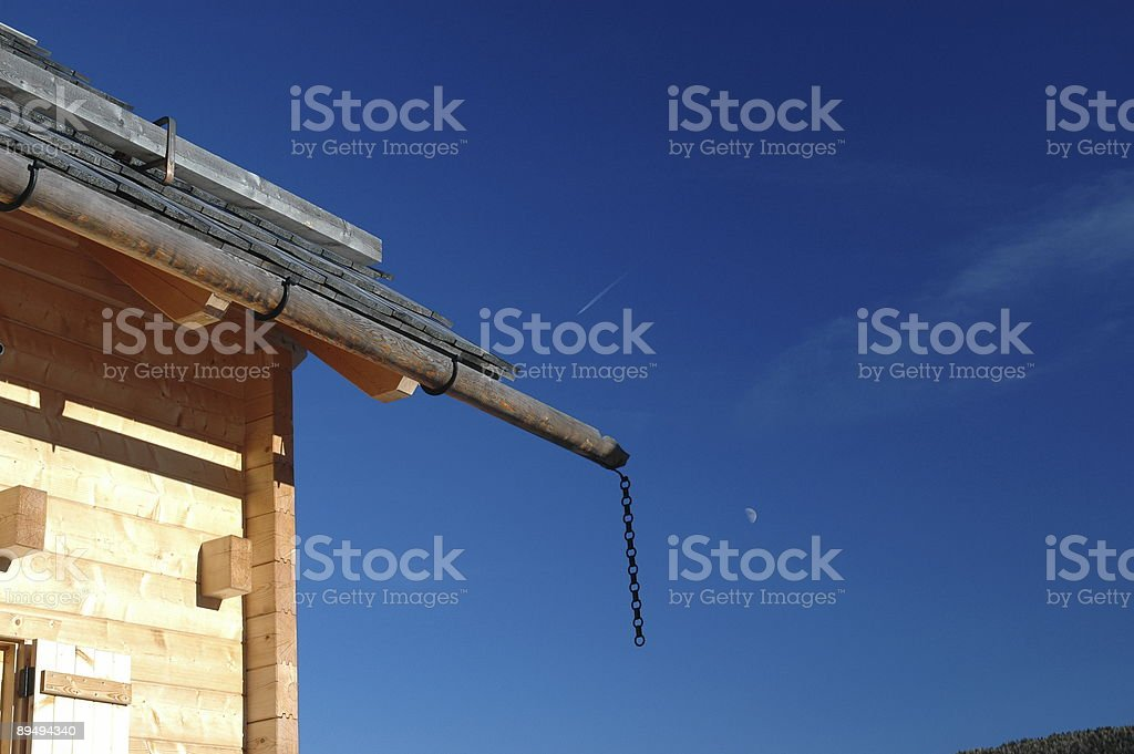Alpine Block House stock photo