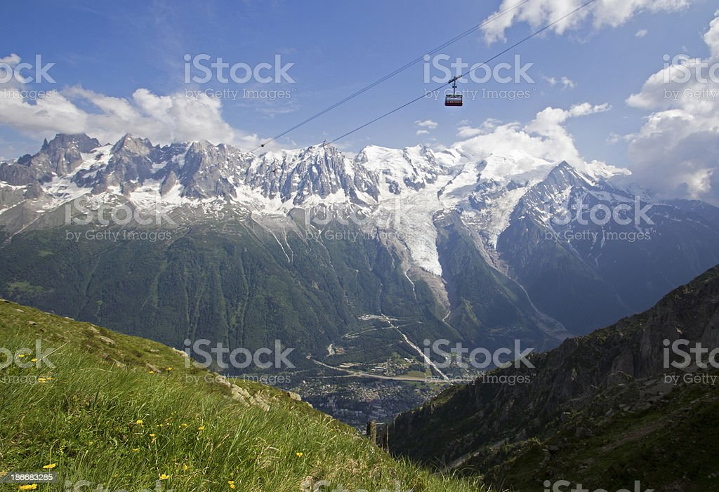 Alpine cable car royalty-free stock photo