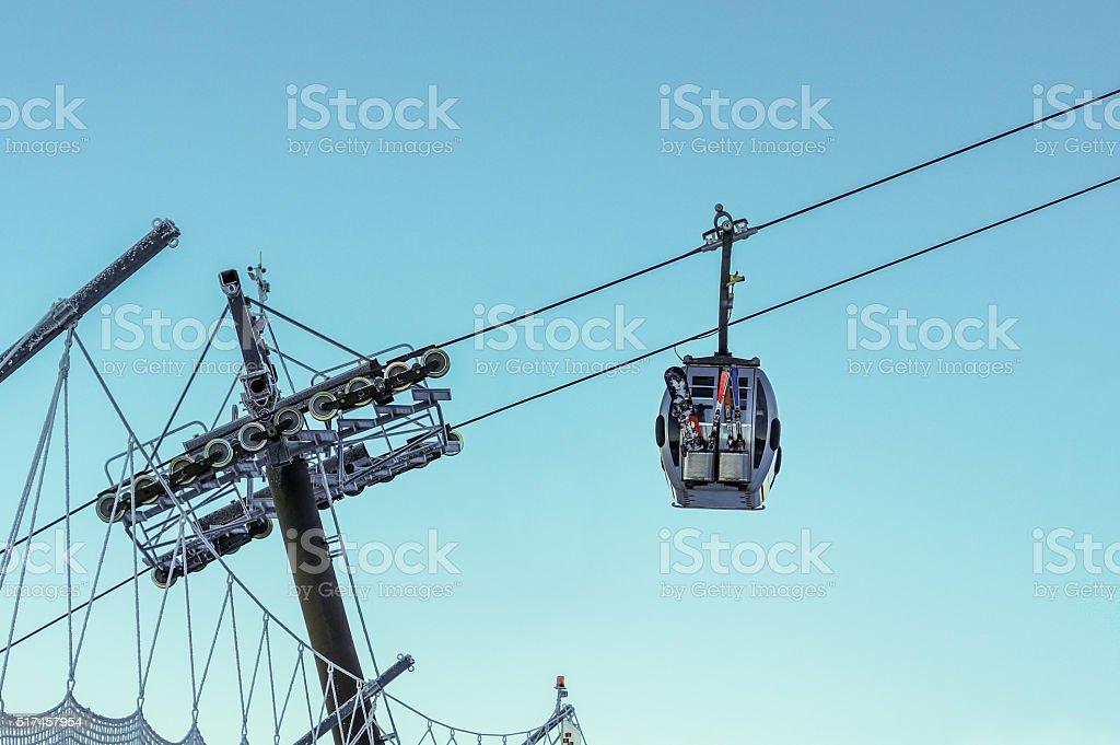 Alpine Cable Car stock photo