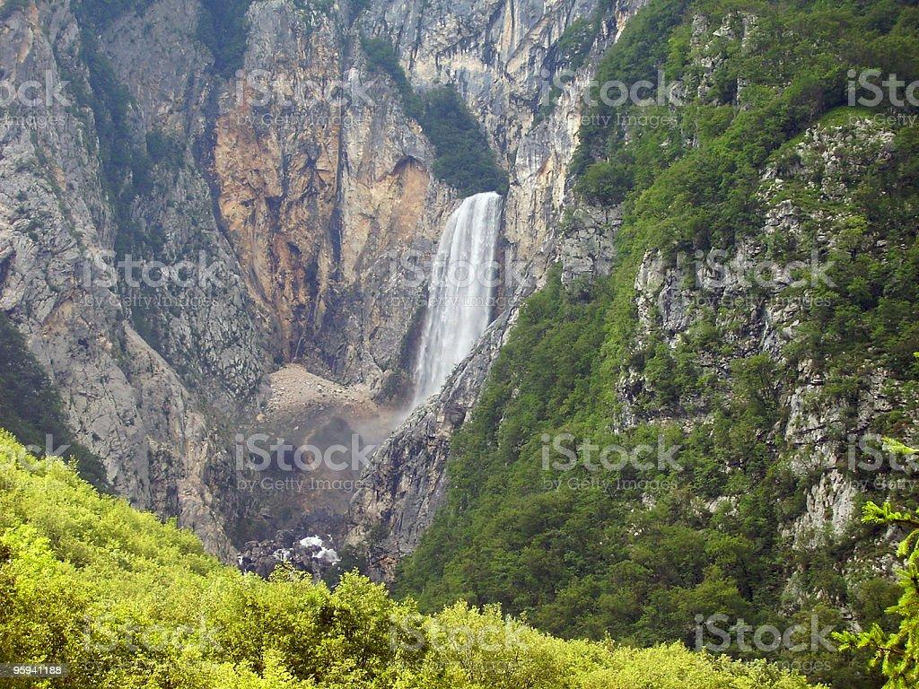 alpine cascade detail royalty-free stock photo