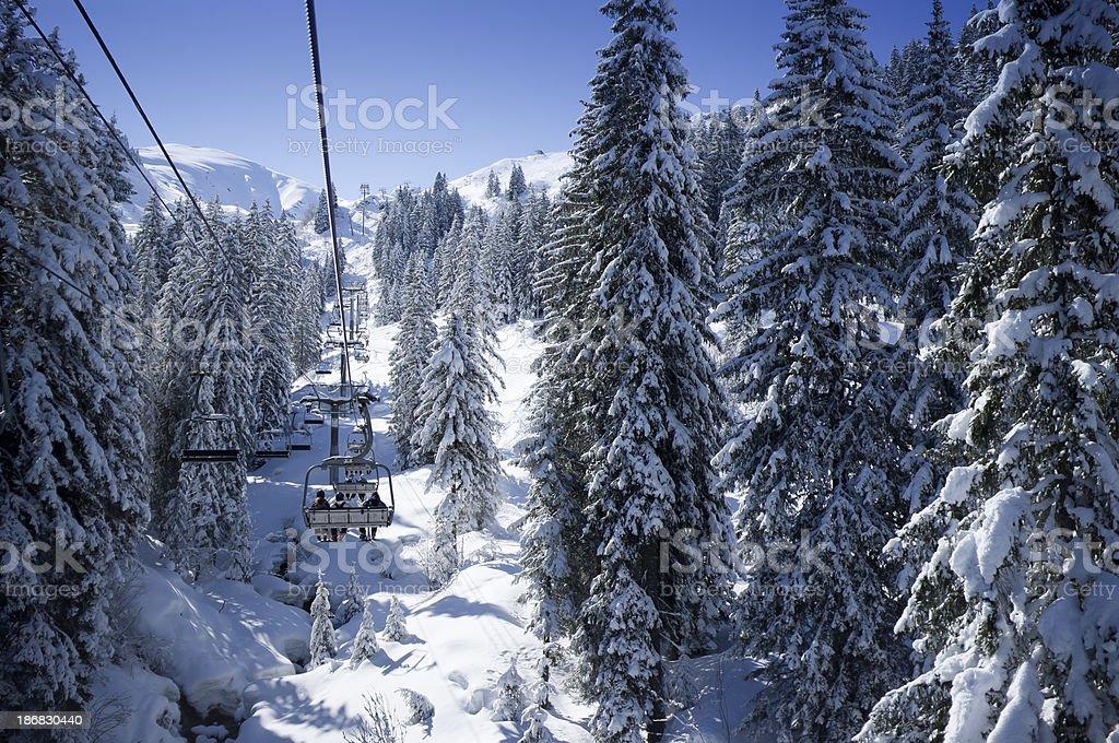 Alpine Chair Lift stock photo