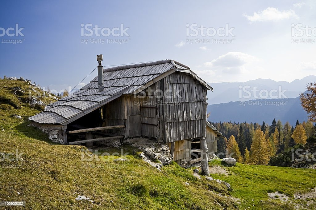 alpine chalet royalty-free stock photo