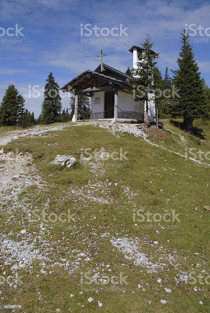 Alpine Chapel royalty-free stock photo