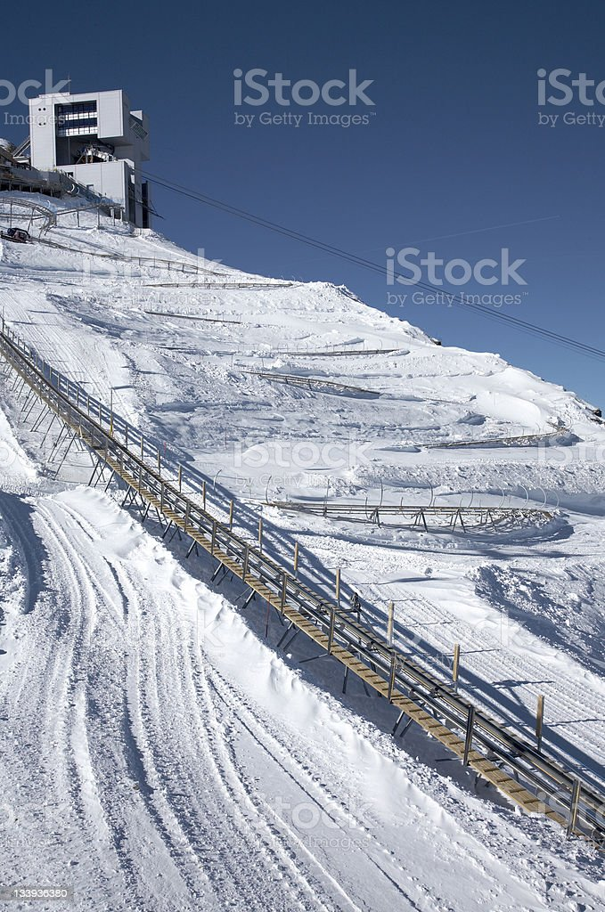 Alpine coaster royalty-free stock photo