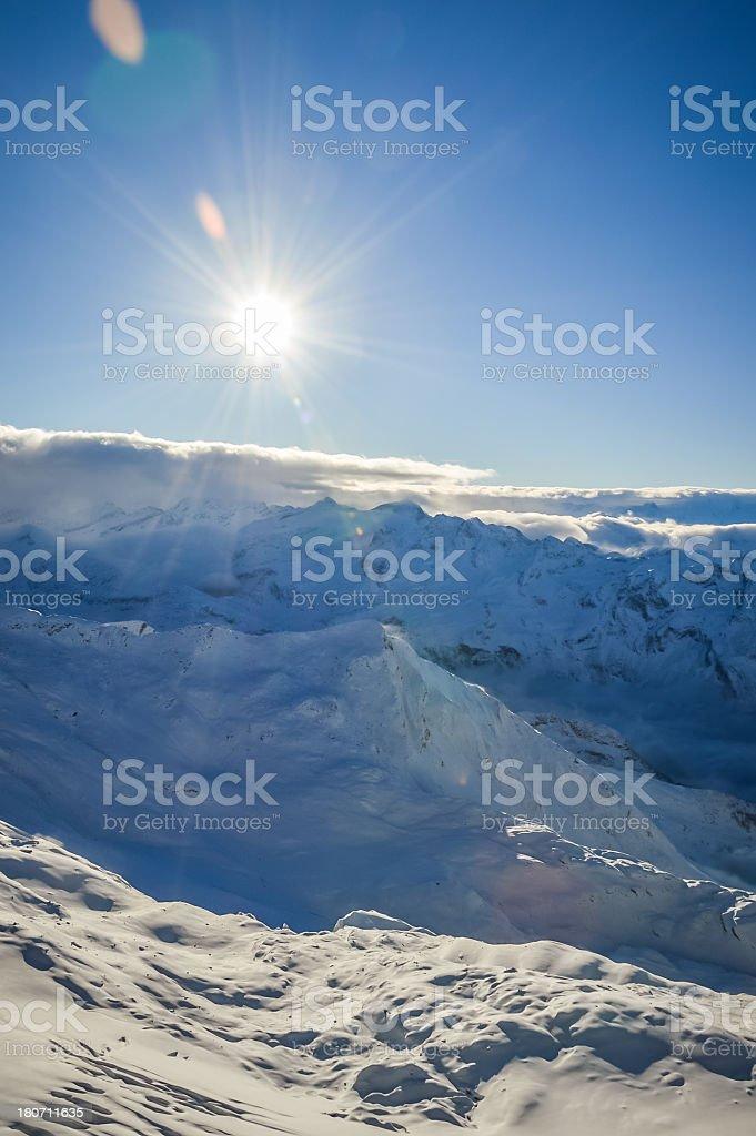 Alpine Dramatic View stock photo