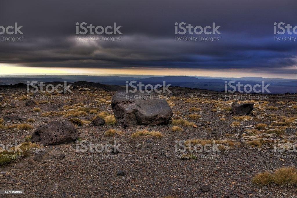 Alpine Dusk stock photo