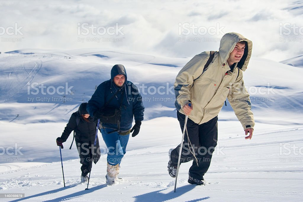Alpine expedition climbing Mt. Sar Planina royalty-free stock photo