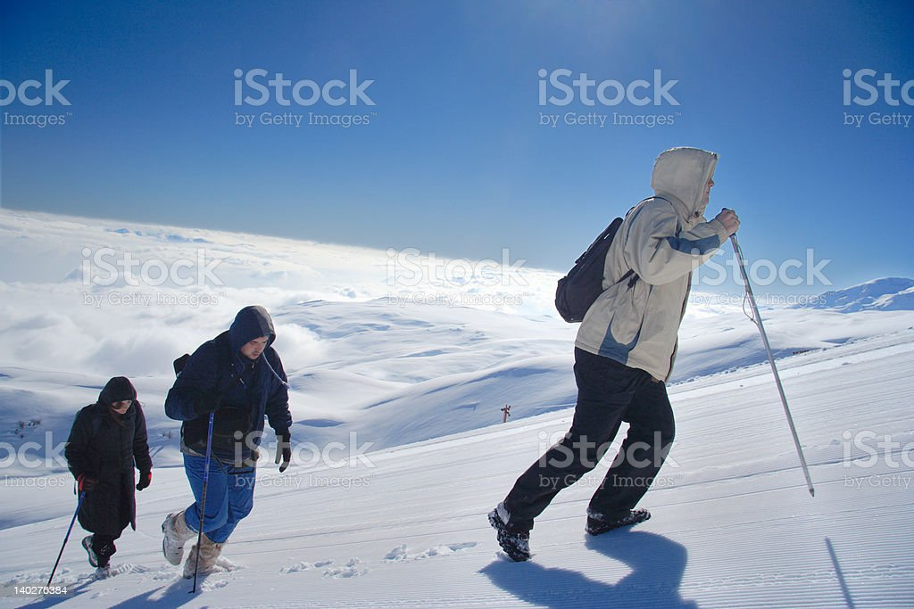 Alpine expedition climbing Mt. Sar Planina royalty-free stock photo