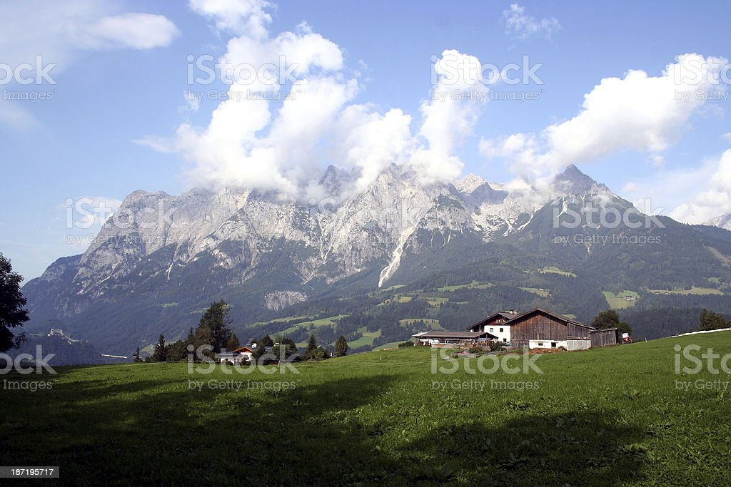 Almwirtschaft in den Alpen stock photo