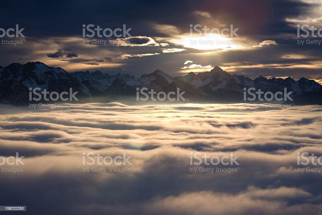 alpine foehn II stock photo