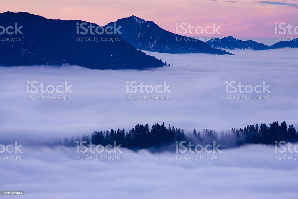 alpine foehn in tirol - austria royalty-free stock photo