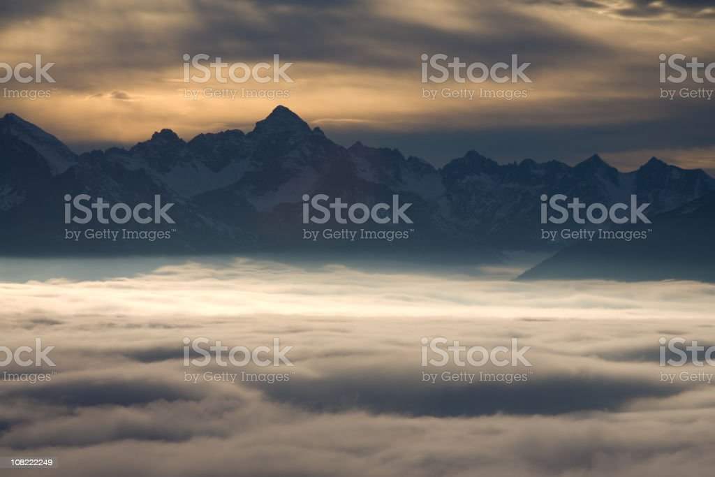 alpine foehn royalty-free stock photo