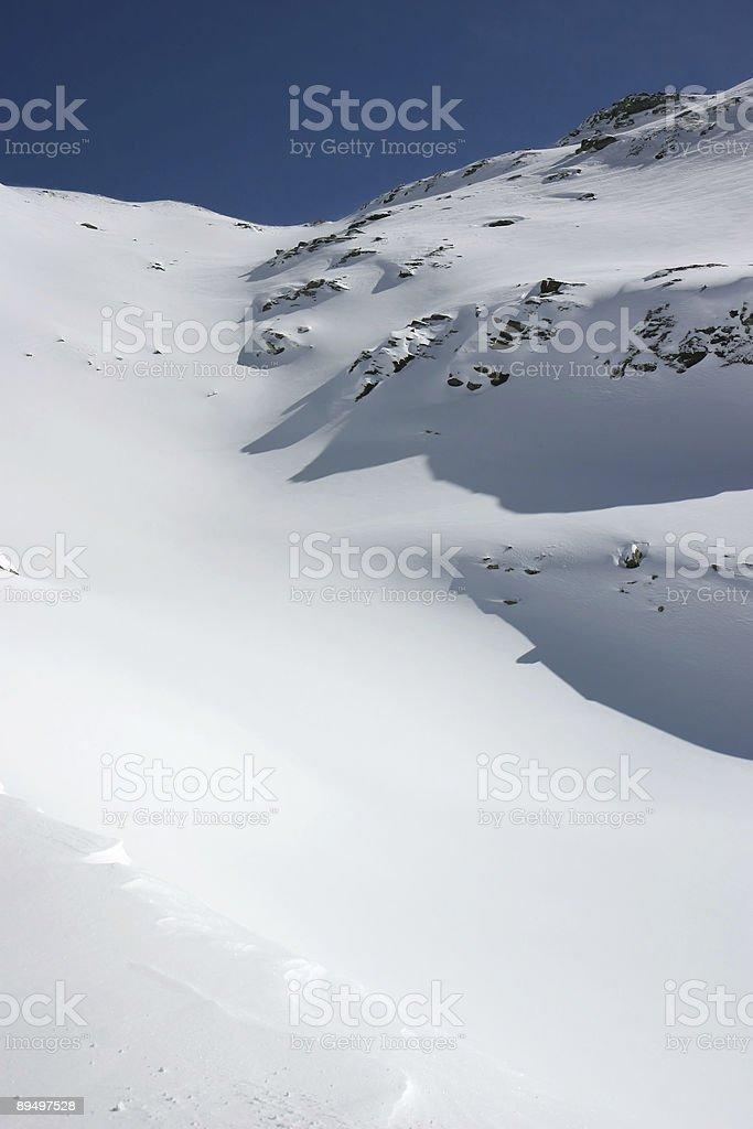 Alpine fresh snow royalty-free stock photo