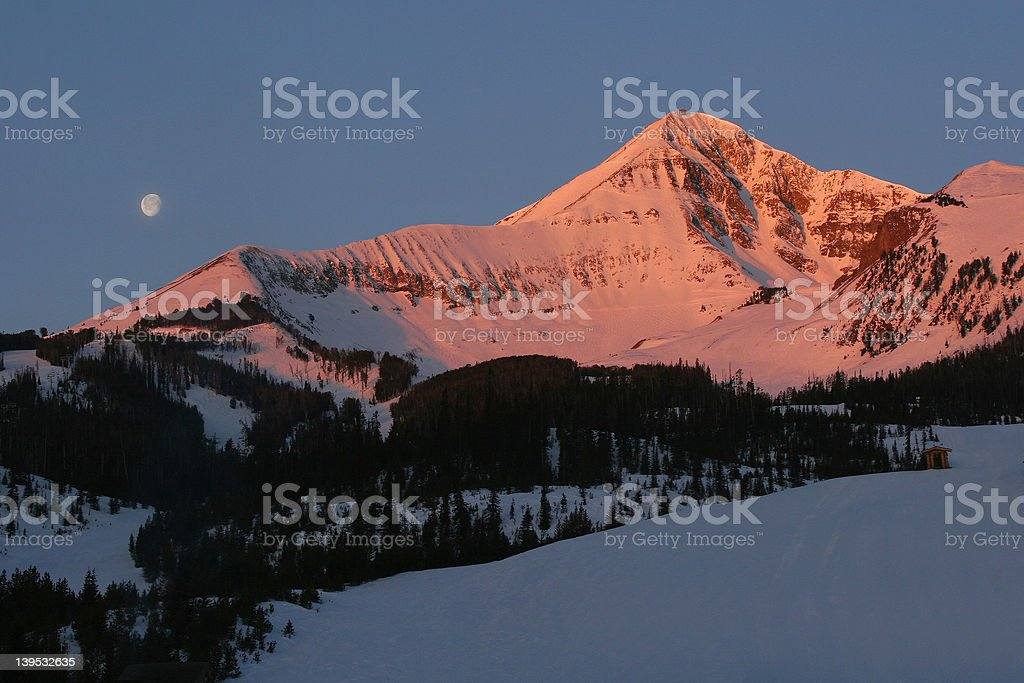 Alpine Glow stock photo