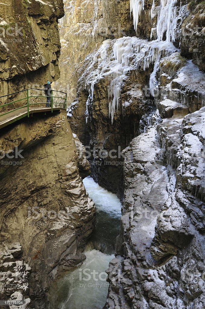 Alpine Gorge royalty-free stock photo