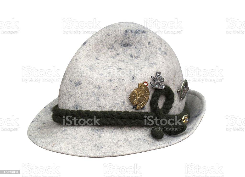 Alpine hat stock photo