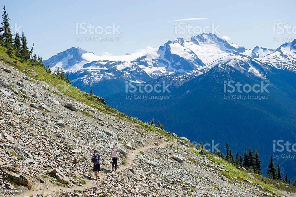 Alpine Hiking stock photo