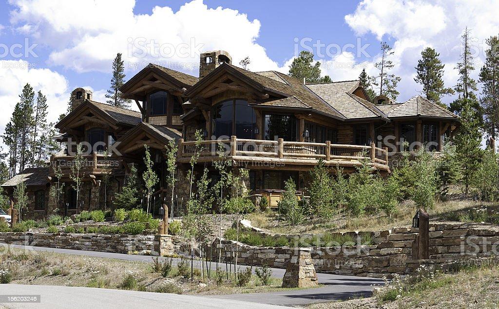 Alpine home stock photo