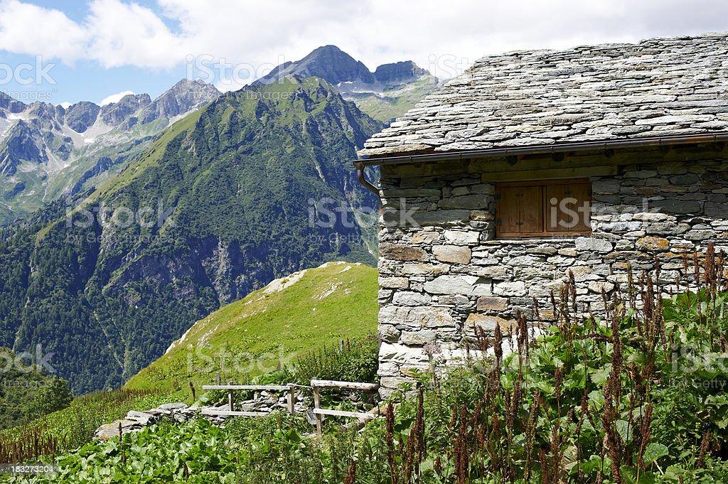 Alpine Home royalty-free stock photo