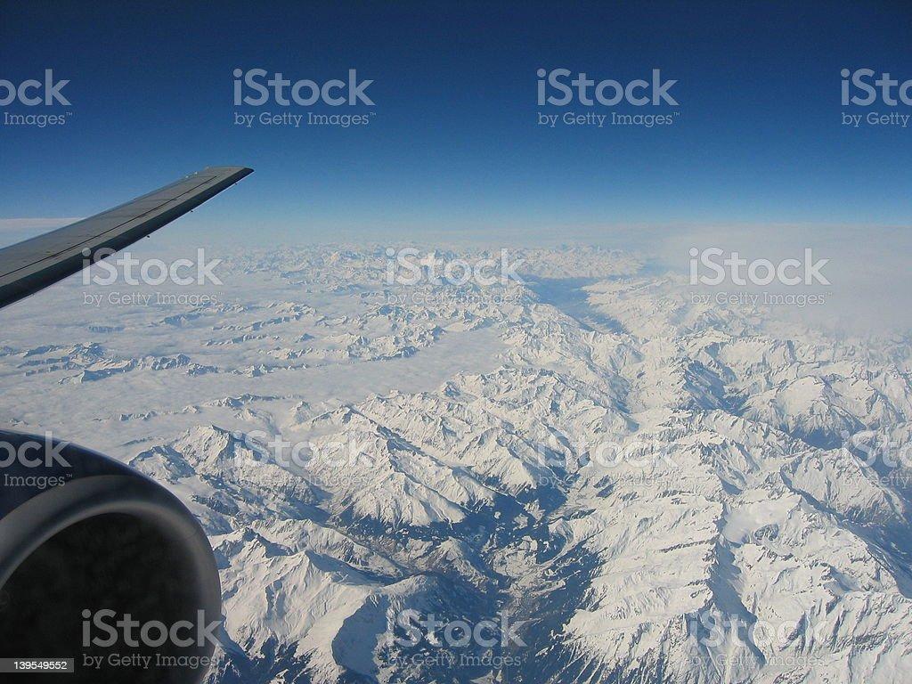 alpine horizon royalty-free stock photo