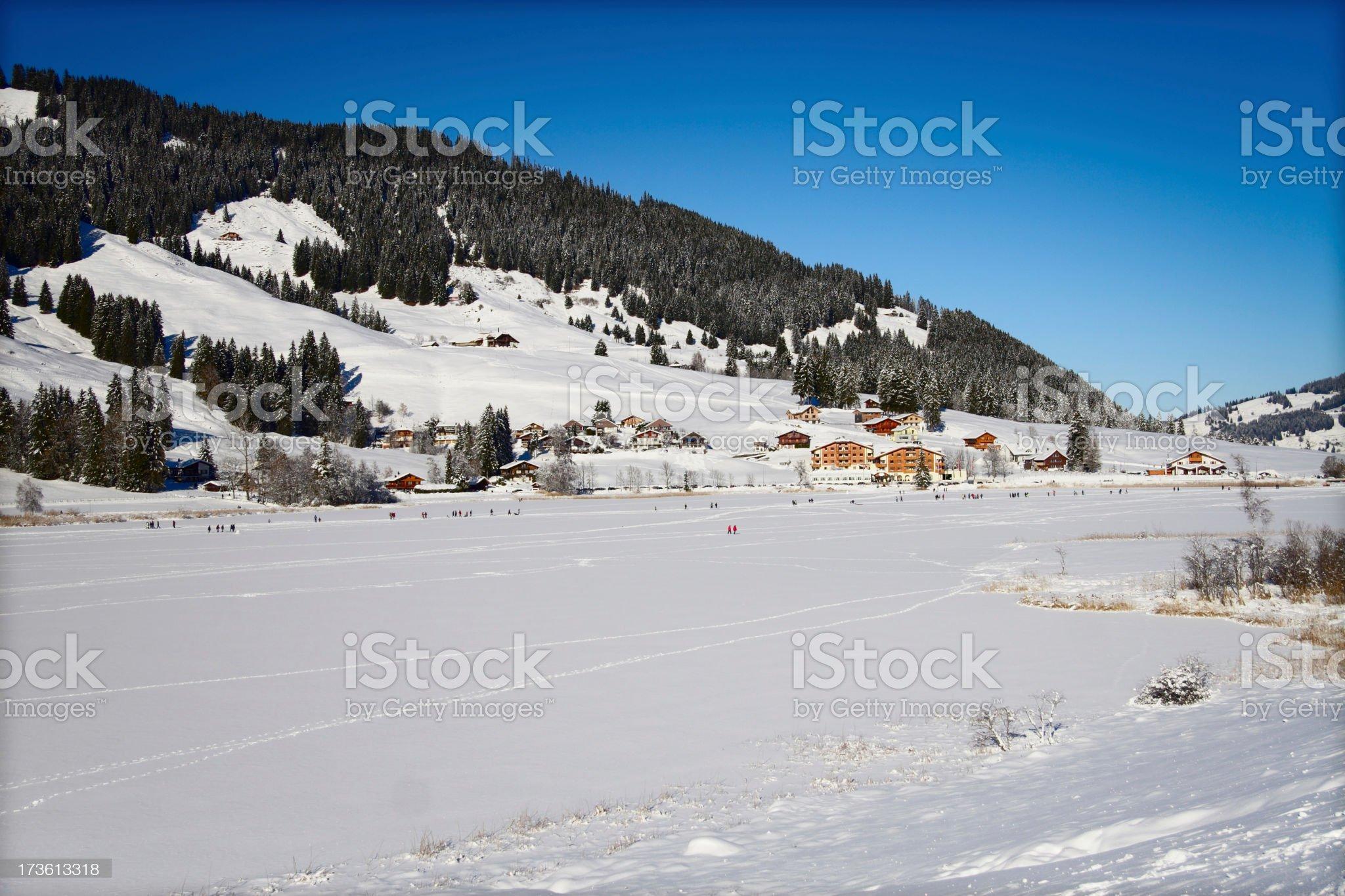 Alpine Hotel royalty-free stock photo