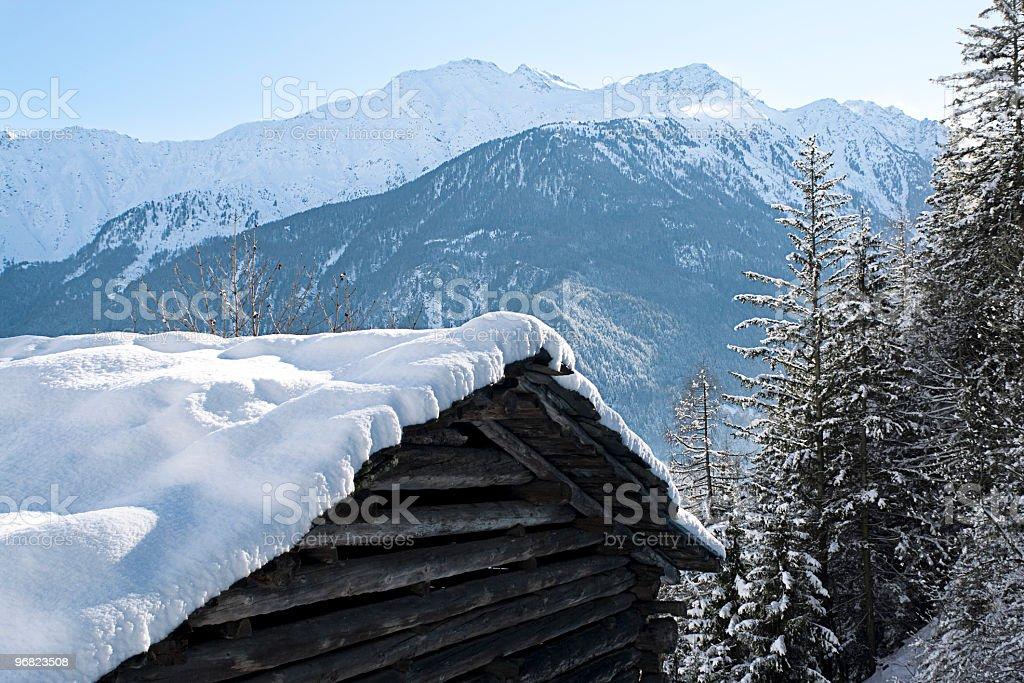 Alpine House royalty-free stock photo