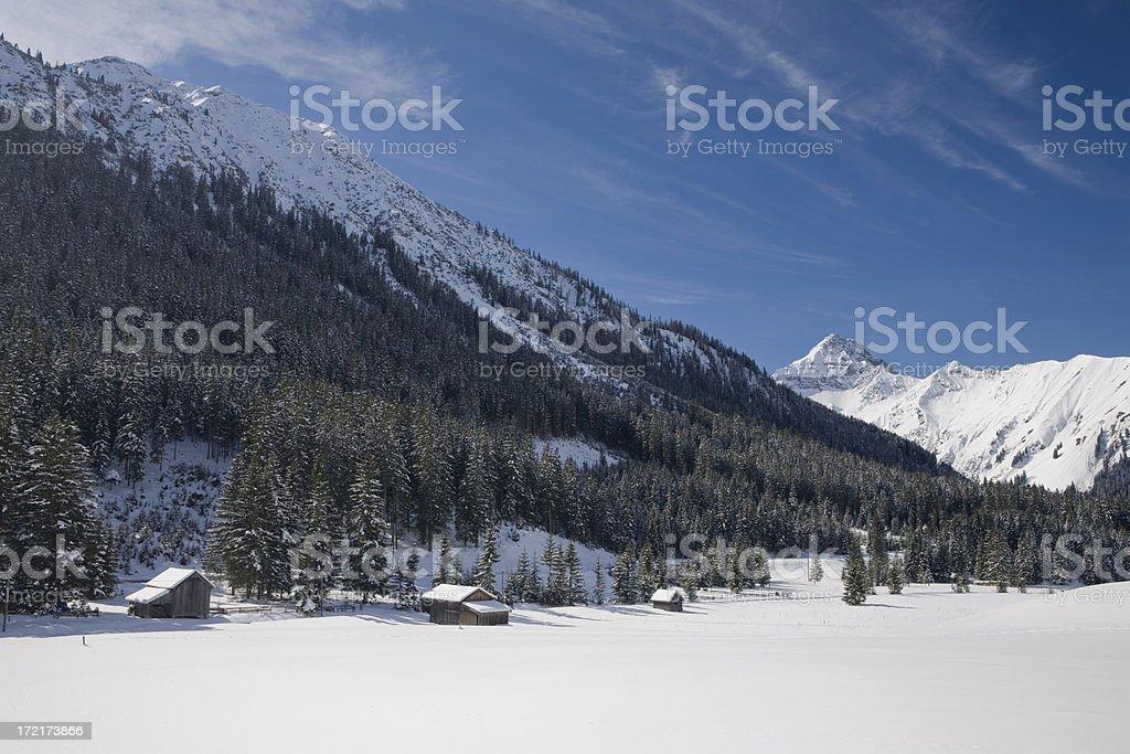 alpine hut III royalty-free stock photo