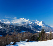 Alpine hut in Garmisch-Partenkirchen, Germany