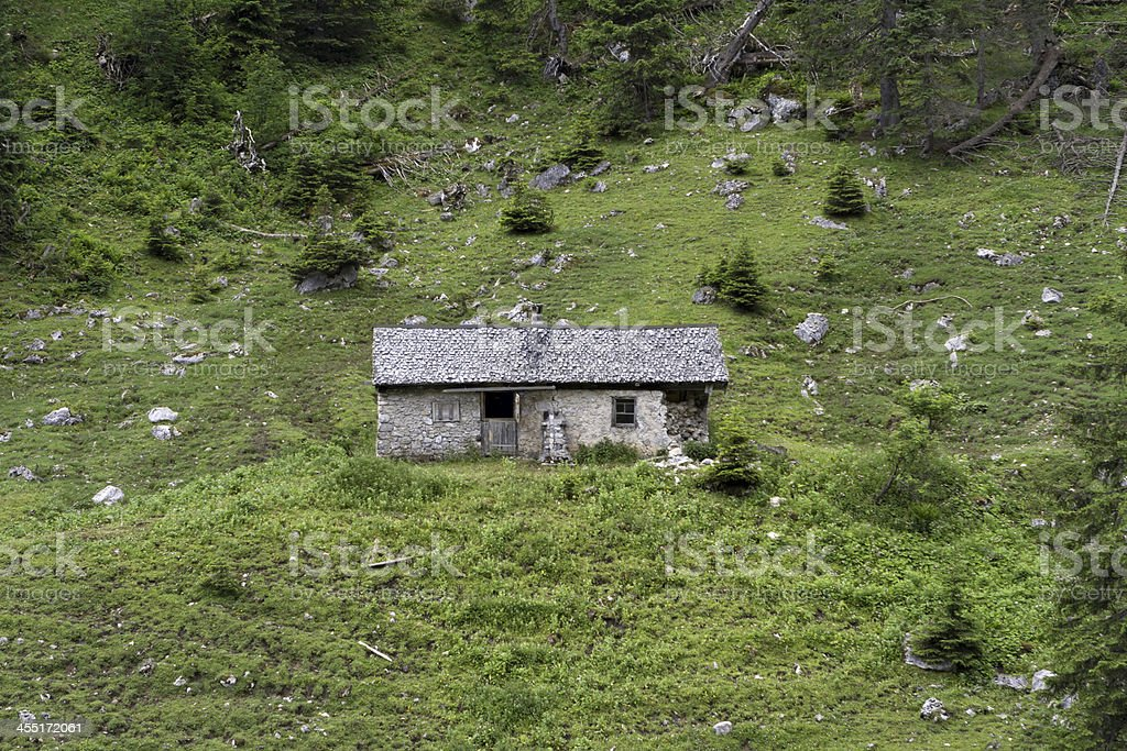 alpine hut royalty-free stock photo