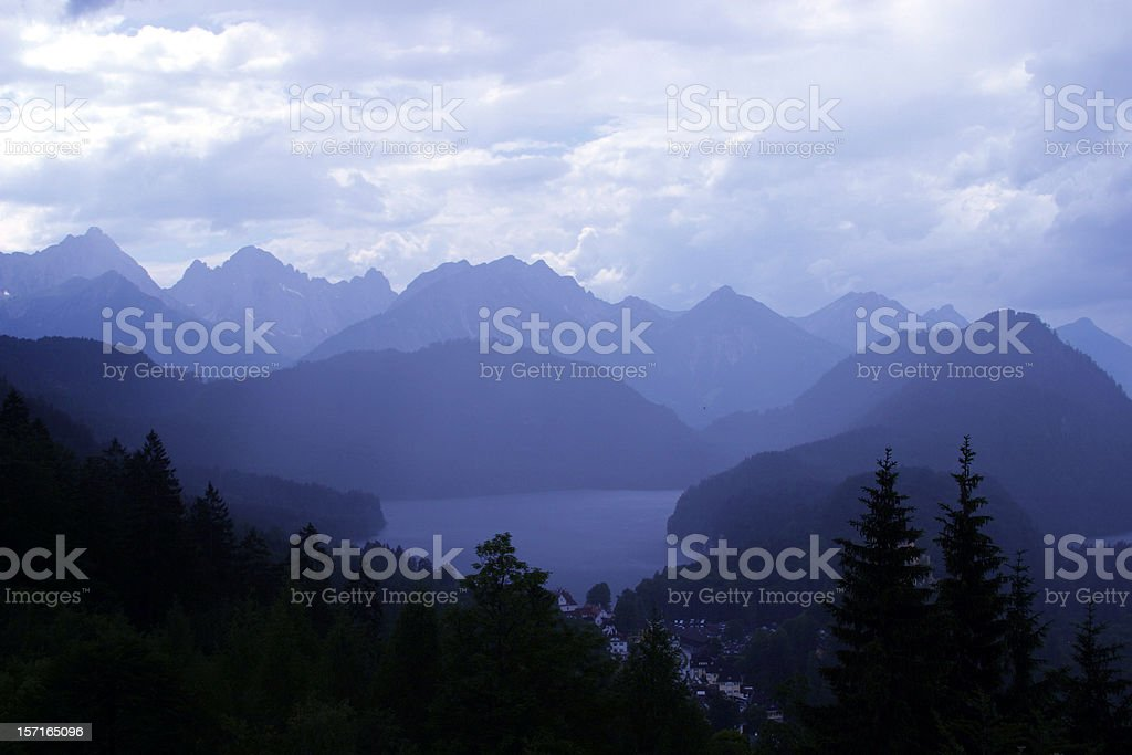 Alpine lake blue mood royalty-free stock photo