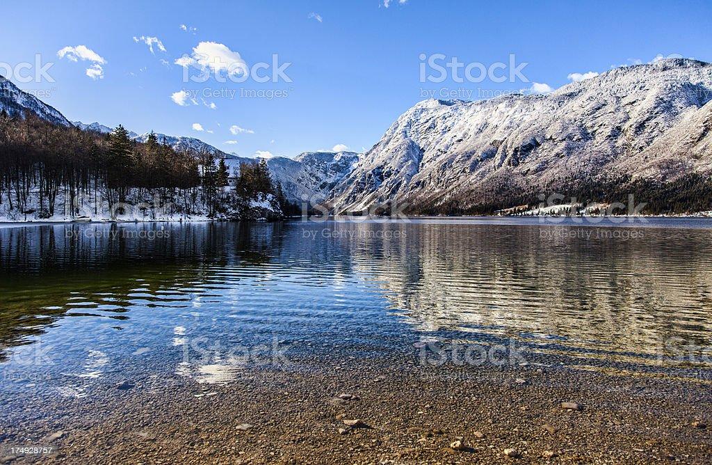 Alpine lake Bohinj royalty-free stock photo