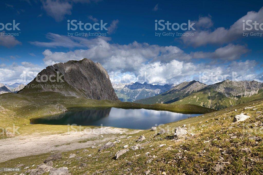 alpine lake Kogelsee royalty-free stock photo