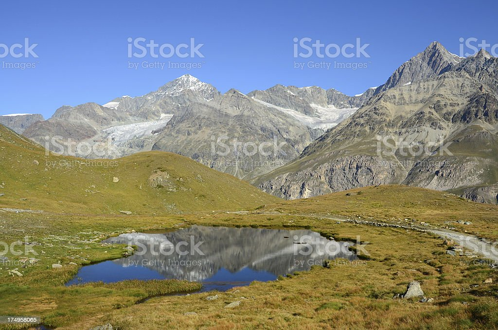 Alpine Lake Near Zermatt, Switzerland royalty-free stock photo