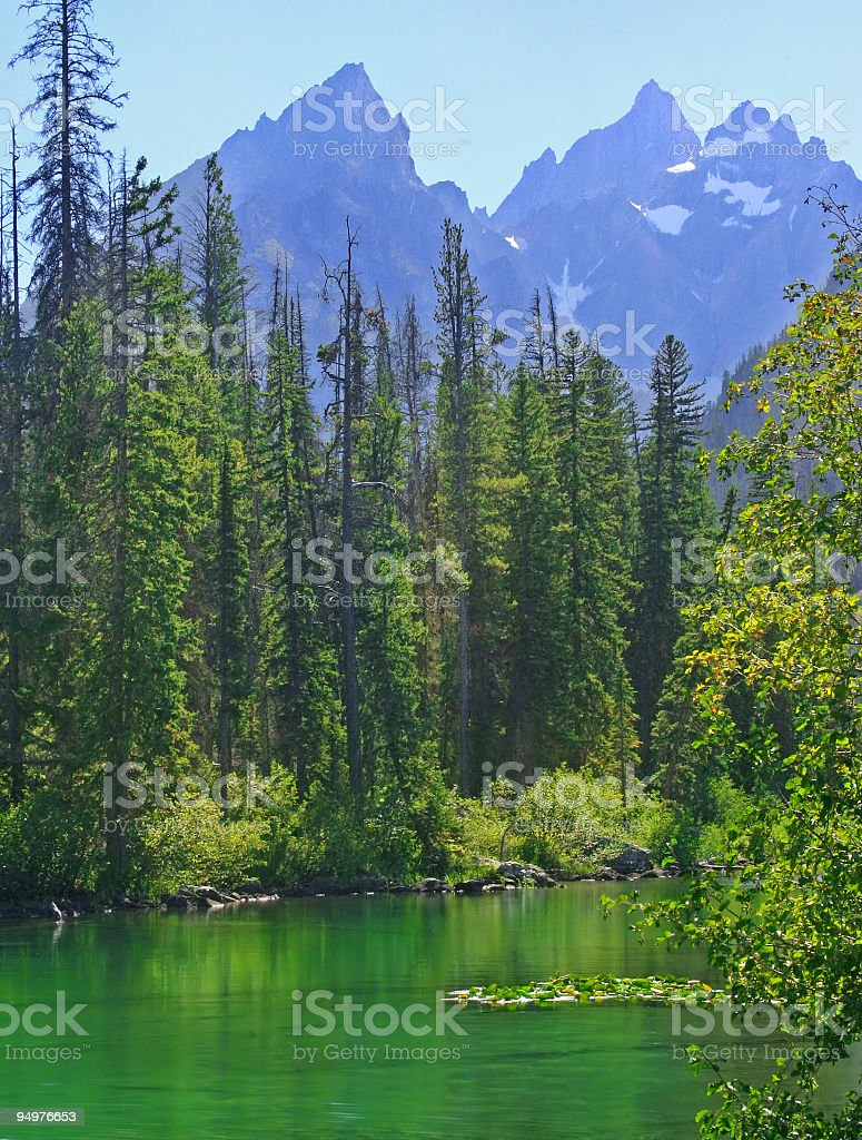 Alpine Lake on a Summer Afternoon stock photo