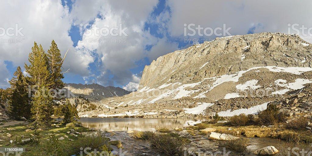 Alpine Lake Panorama stock photo