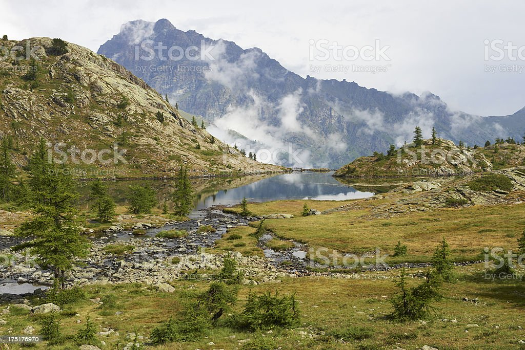Alpine Lake royalty-free stock photo