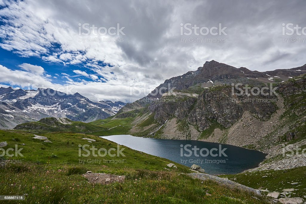 Alpine Lake stock photo