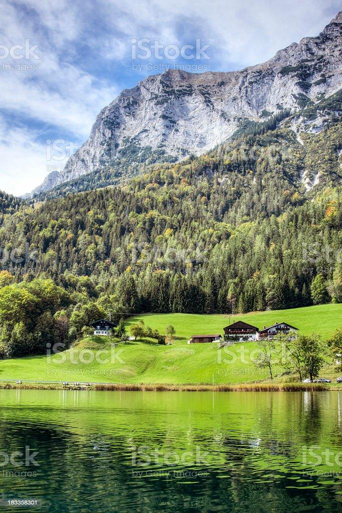 Alpine Lake Reflections stock photo