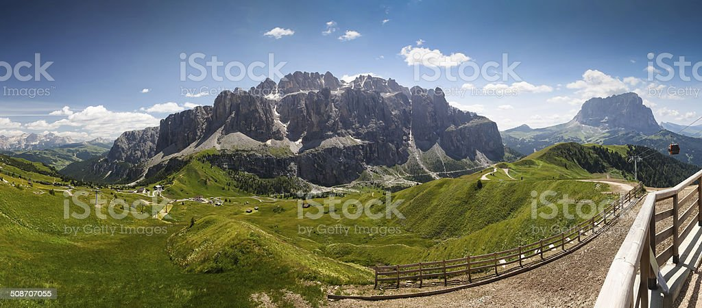 Alpine landscape Dolomiti stock photo