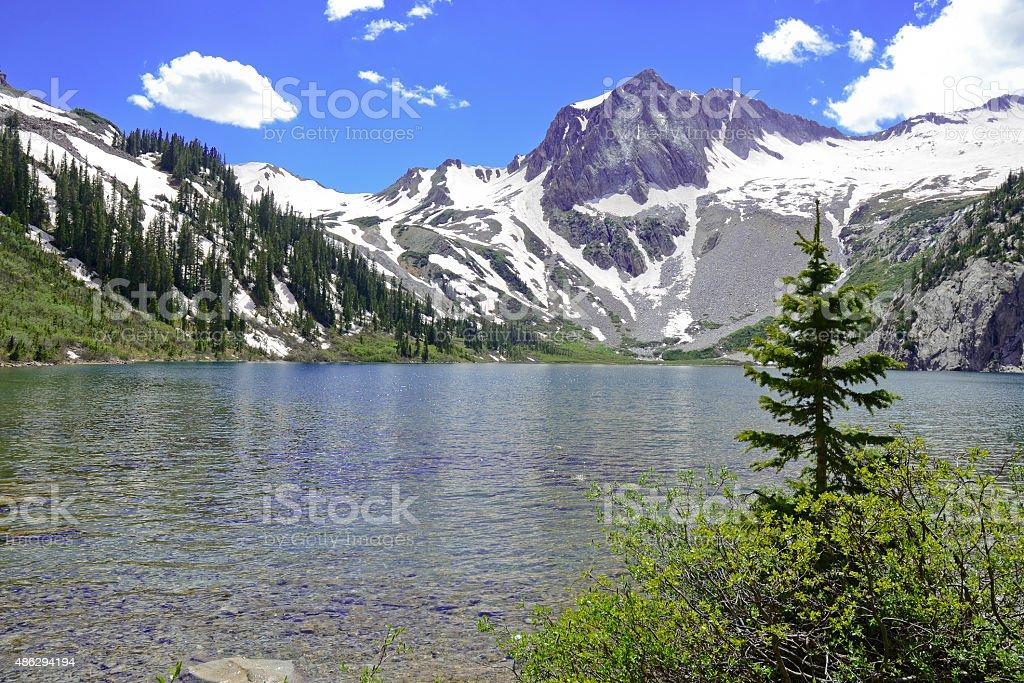 Alpine landscape, Elk Range, Rocky Mountains in Colorado stock photo