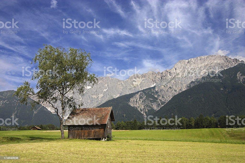 Alpine landscape in the Austrian Tirol region royalty-free stock photo