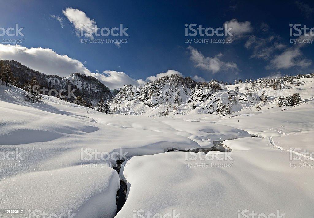 Alpine landscape in winter royalty-free stock photo