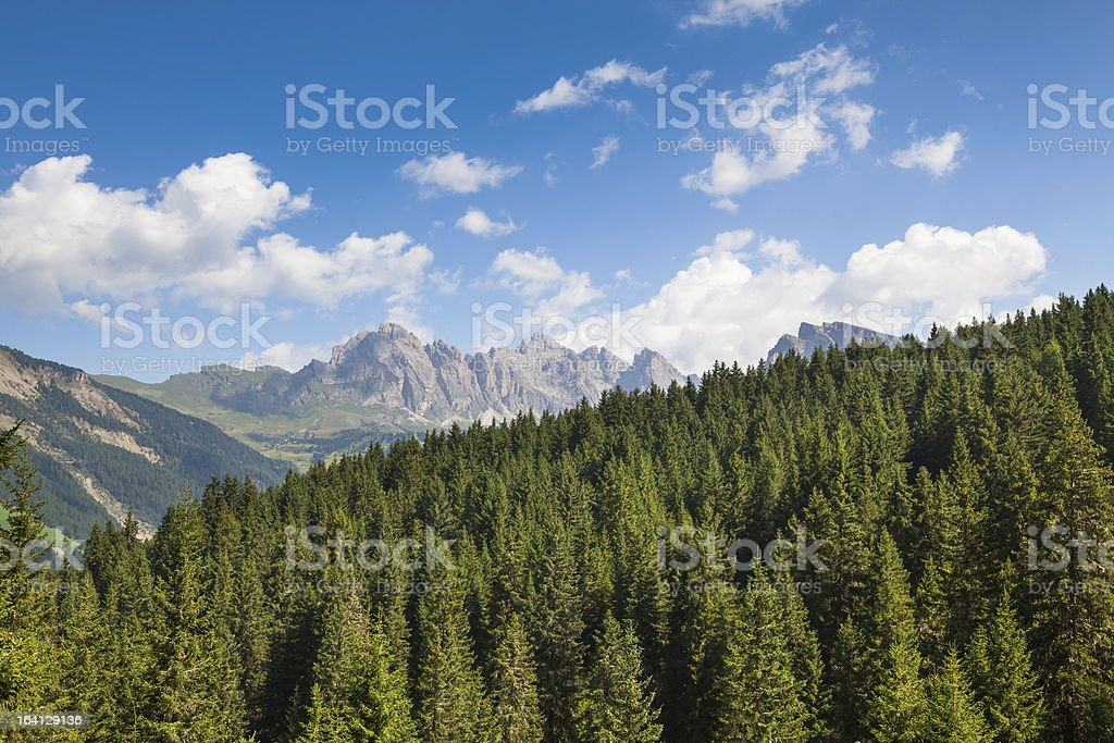 Alpine Landscape, Mountain Peaks royalty-free stock photo