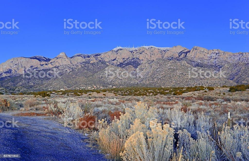 Alpine landscape of Sandia Mountains, New Mexico, USA stock photo