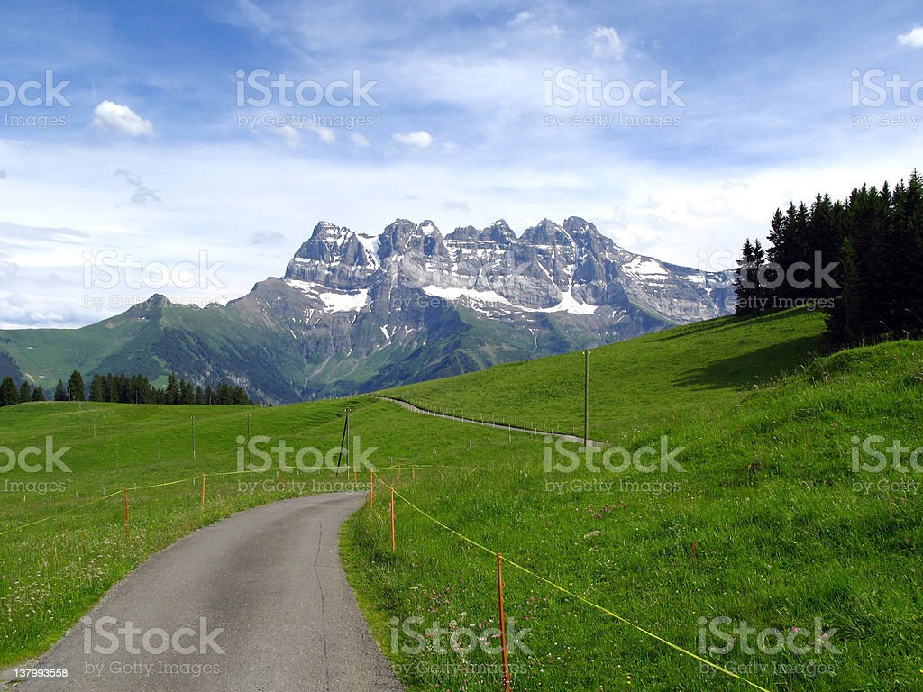 Alpine landscape, Switzerland royalty-free stock photo