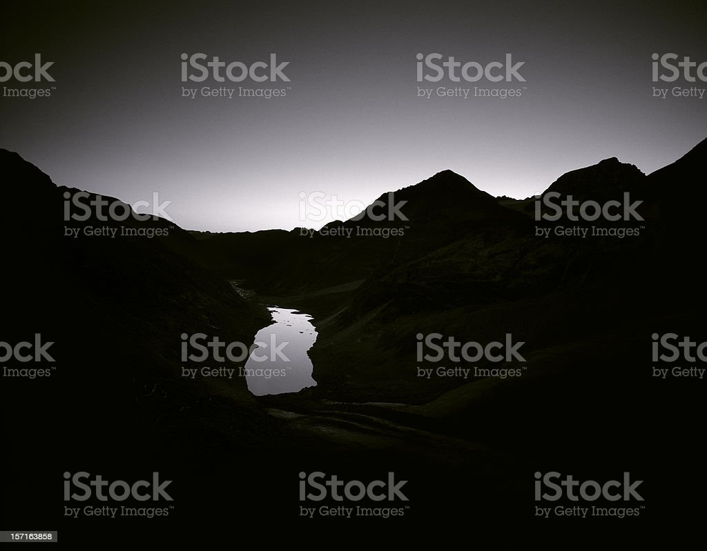 Alpine landscape, Switzerland. stock photo