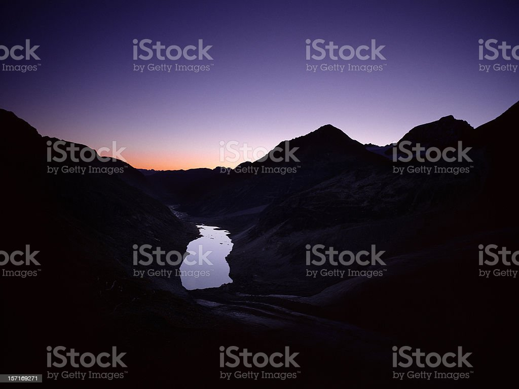 Alpine landscape, Switzerland. stock photo